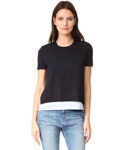 Alice+Olivia | Рубашка С Округлым Вырезом И Рукавами Iva Коротким