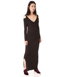 525 America | Платье С Открытыми Плечами Вырезом Rib V-Образным Вырезом