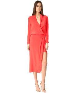 Michelle Mason | Платье-Халат С Длинными Рукавами И Кружевная Комбинация