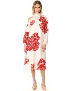 Tibi | Asymmetrical Cutout Orla Bloom Dress