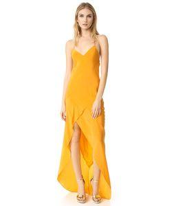 Michelle Mason | Вечернее Платье Косого Кроя С Оборками