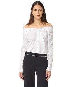 Tibi | Рубашка На Пуговицах Notched С Открытыми Плечами