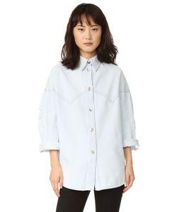 MM6 by Maison Margiela | Рубашка Из Выцветшего Денима На Пуговицах