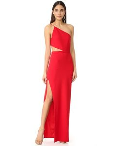 Michelle Mason | Асимметричное Вечернее Платье В Стиле Бандо