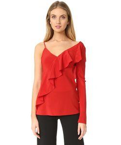 Diane Von Furstenberg   Асимметричная Блуза С Оборками На Рукаве И Спереди