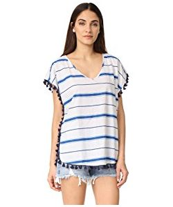 Soleil | Striped Cover Up With Fringe