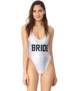 Private Party | Металлизированный Сплошной Купальник Bride