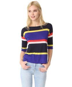 Autumn Cashmere | Кашемировый Пуловер С Вырезом Лодочкой И Разноцветными Полосками