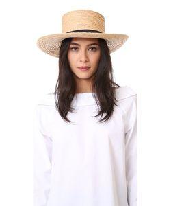 Hat Attack | Шляпа Boater Из Заплетенной Колосом Рафии