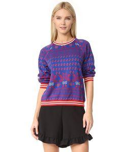 Anna Sui | Трикотажный Жаккардовый Пуловер С Изображениями Лебедей
