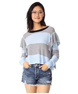 Wildfox | Aura Striped Ruffle Sweater