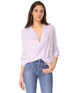 L'Agence | Блуза Rita С Драпировкой Спереди