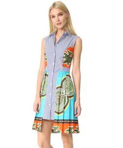 Stella Jean | Платье В Полоску Без Рукавов