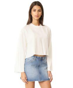 KENDALL + KYLIE | Пуловер Из Твила С Бахромой
