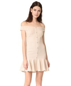 Veronica Beard | Оборчатое Платье С Открытыми Плечами Winnie