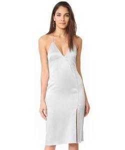 Halston Heritage   Платье-Комбинация С V-Образным Вырезом С Разрезом