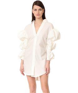 JACQUEMUS | Платье-Рубашка С Присборенными Рукавами