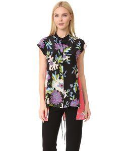 Diane Von Furstenberg | Асимметричная Рубашка С Короткими Рукавами