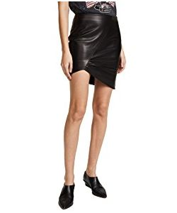 ANINE BING | Asymmetric Leather Skirt