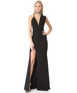 Michelle Mason | Асимметричное Вечернее Платье С Глубоким Вырезом