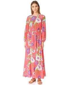 Diane Von Furstenberg | Длинное Платье С Округлым Вырезом И Длинными Рукавами