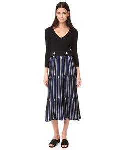 Derek Lam | Платье С Поясом И V-Образным Вырезом