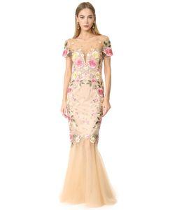 Marchesa Notte | Вечернее Платье С Цветочной Вышивкой