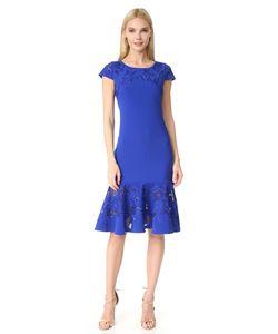Marchesa Notte | Платье С Короткими Рукавами С Лазерной Обработкой