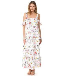 Nicholas | Многоуровневое Макси-Платье N Daffodil С Вышивкой