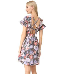 Rebecca Taylor | Платье Penelope С Оборками И Короткими Рукавами