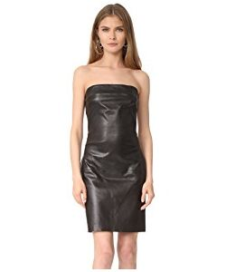 THE PERFEXT | Strapless Leather Dress