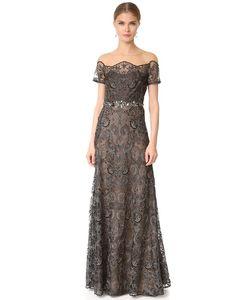 Marchesa Notte | Кружевное Вечернее Платье С Открытыми Плечами