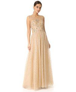 Marchesa Notte | Вечернее Платье Ball Из Тюля С Блестками