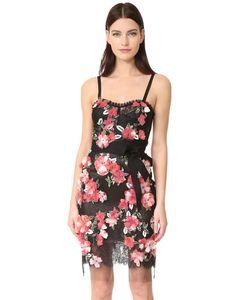 Marchesa | Коктейльное Платье Из Тюля С Цветочным Рисунком