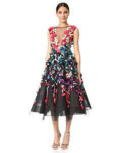 Marchesa | Вечернее Платье Из Тюля