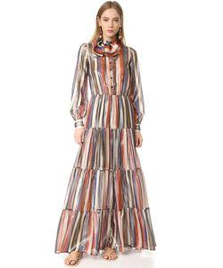 Stella Jean | Платье С Длинными Рукавами
