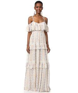 Needle & Thread | Макси-Платье В Полоску С Цветочным Рисунком