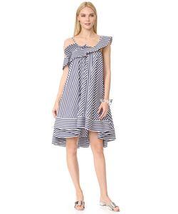MSGM | Платье В Полоску С Оборками