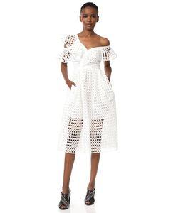 SELF-PORTRAIT | Кружевное Миди-Платье С Оборками