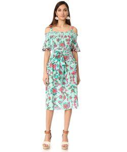 TANYA TAYLOR | Платье Amber С Мозаичным Цветочным Узором
