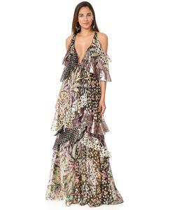 Roberto Cavalli | Платье Без Рукавов С Оборками