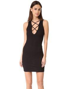 Lna | Кружевное Платье С V-Образным Вырезом