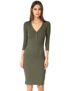 L'Agence | Платье Aurora С Передней Застежкой И Длинными Рукавами