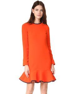 Victoria, Victoria Beckham | Платье С Оборками На Подоле