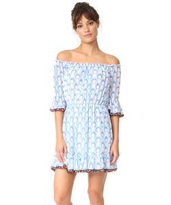 Athena Procopiou | Короткое Хлопковое Платье С Помпонами
