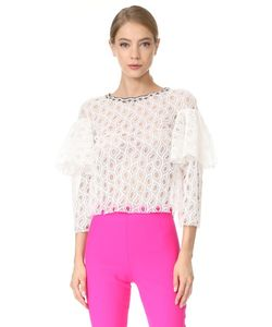 Monique Lhuillier | Оборчатая Блуза