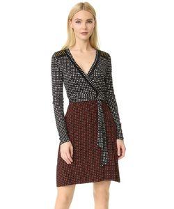 Diane Von Furstenberg   Комбинированное Платье-Халат С Длинным Рукавом