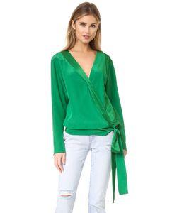 Diane Von Furstenberg | Блуза С Длинными Рукавами И Перекрещенной Отделкой