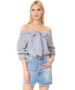 J.O.A. | Полосатая Блуза С Открытыми Плечами
