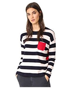 Chinti And Parker | Stripe Heart Sweater